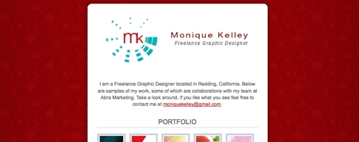 Online Portfolio of Monique Kelley